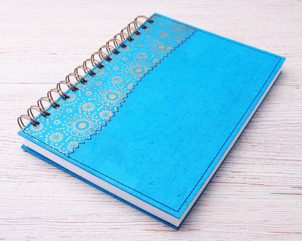 Turquoise Daisy notebook