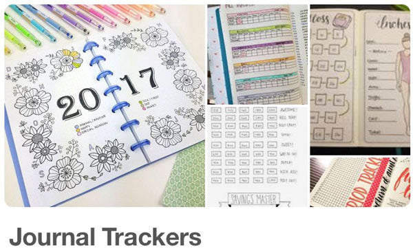 My journal trackers inspiration board on Pinterest