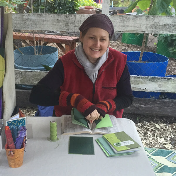 making books at my Northey St market stall