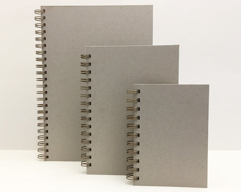 naked notebooks in a range of sizes