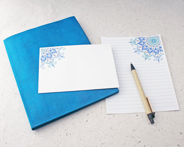 Turquoise writing set