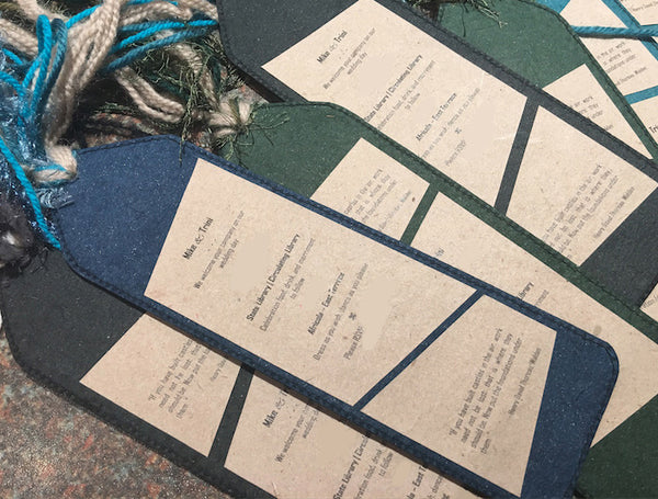 bookmarks used as wedding invitations