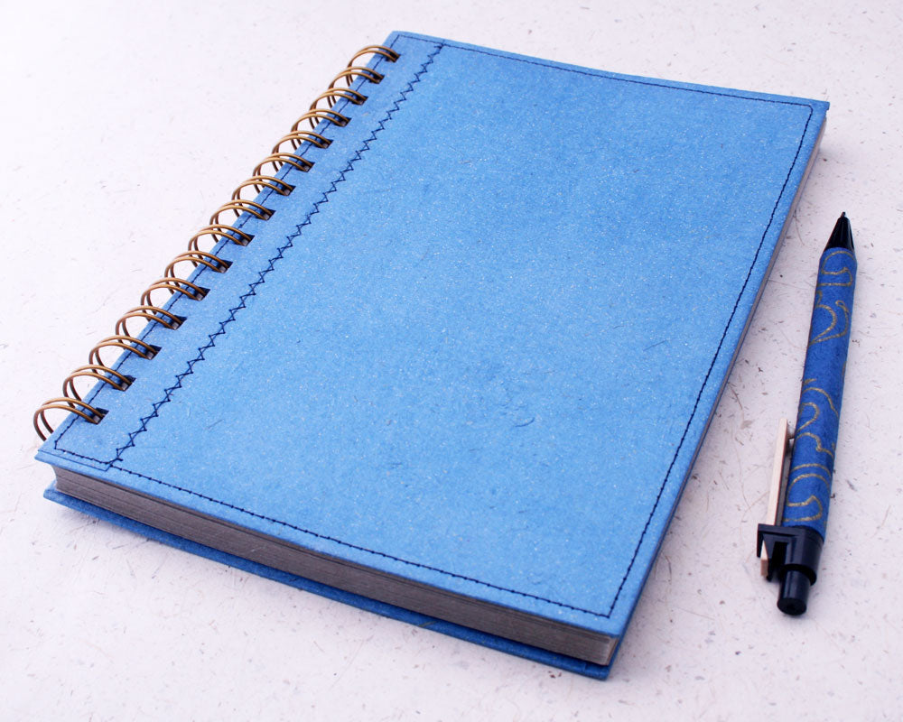 Blue Lined Elephant Dung Paper Notebook