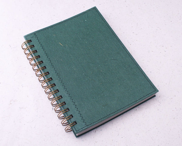 Green Blank Elephant Dung Paper Notebook