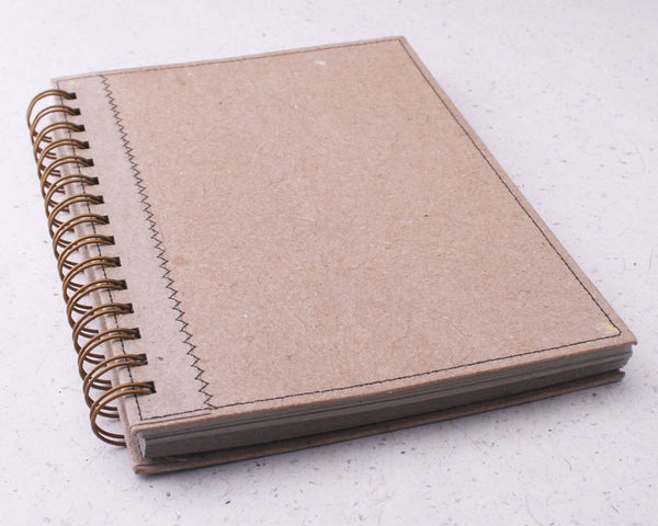 Natural Beige Lined Elephant Dung Paper Notebook