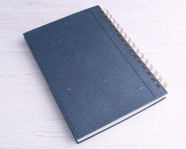 Black Blank Elephant Dung Paper Notebook