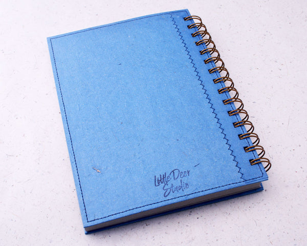 Blue Blank Elephant Dung Paper Notebook