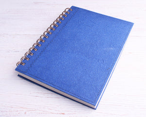 Dark Blue Blank Elephant Dung Paper Notebook
