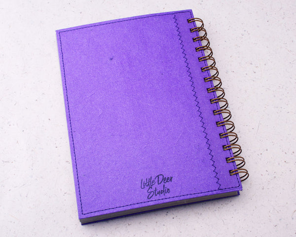 Purple Blank Elephant Dung Paper Notebook
