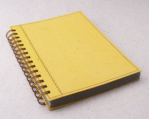 Yellow Lined Elephant Dung Paper Notebook