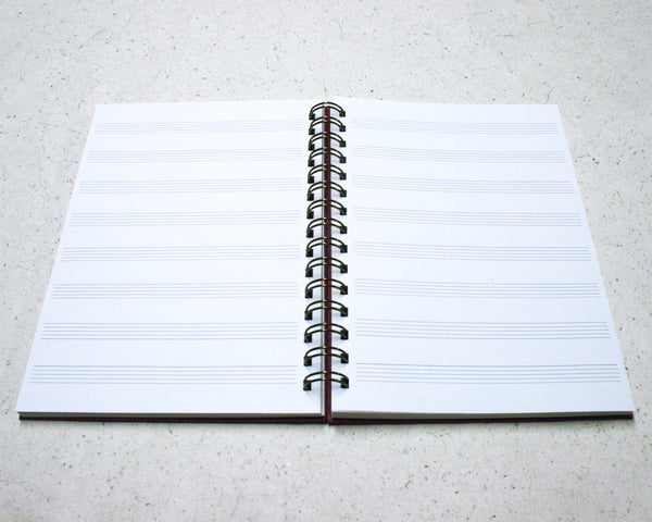 A5 Music Notebook Black
