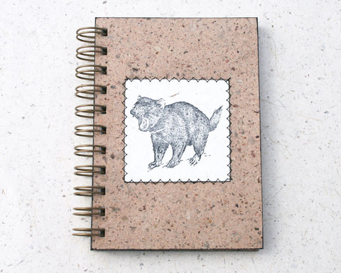 Australiana A6 Blank Notebook Tasmanian Devil