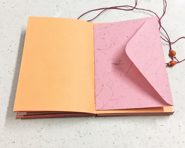 Little Book of Memories Journal Pink Orange