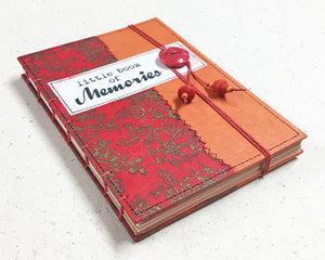 Little Book of Memories Journal Red Orange