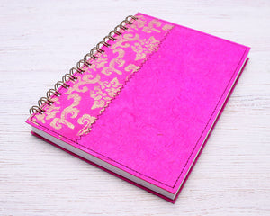A5 Blank Notebook Pink Royale