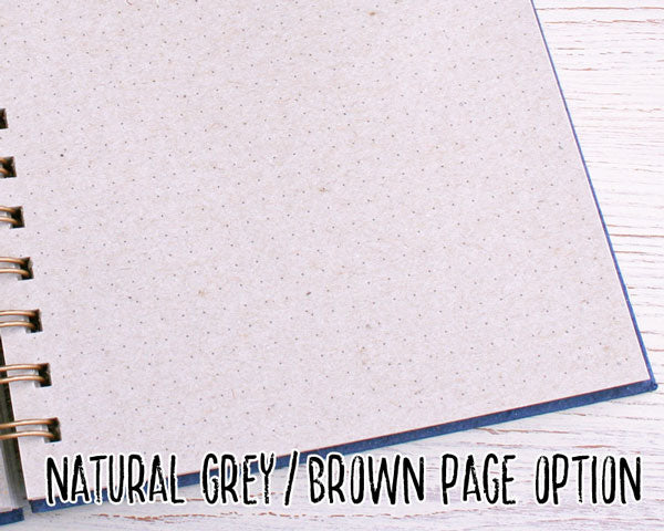 Dark Blue Dot Grid Elephant Dung Paper Notebook
