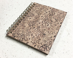 Small embossed notebook birds brown