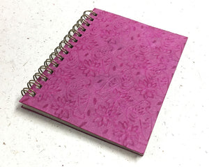 Small embossed notebook birds pink