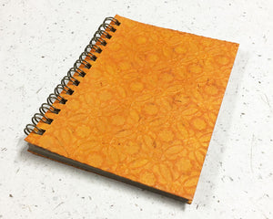 Small embossed notebook Circles Yellow