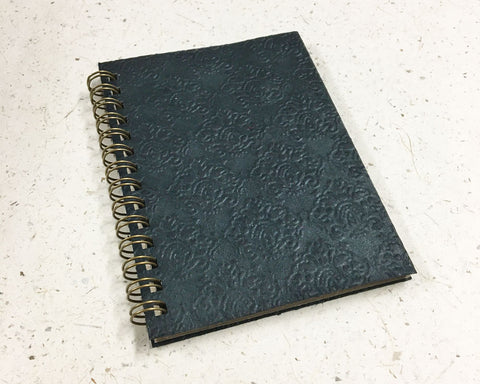Small embossed notebook Crowns Black