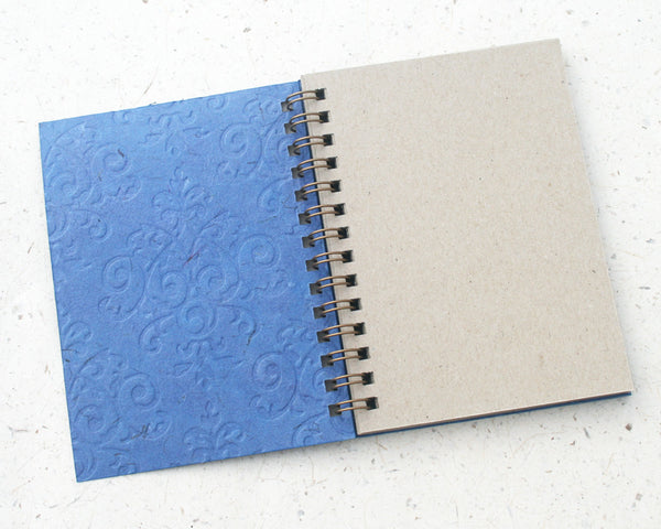 Small embossed notebook blue royale