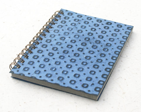 Small embossed notebook blue spotty