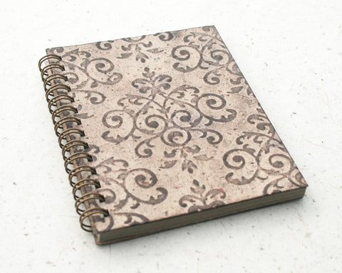 Small embossed notebook brown royale