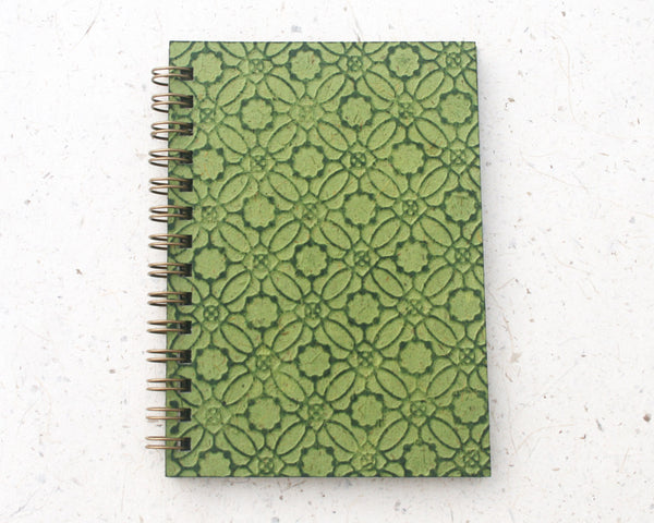 Small embossed notebook green circles