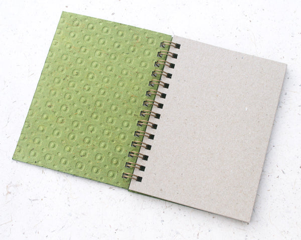 Small embossed notebook green spotty