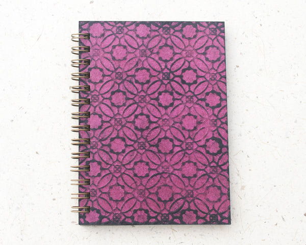 Small embossed notebook pink circles