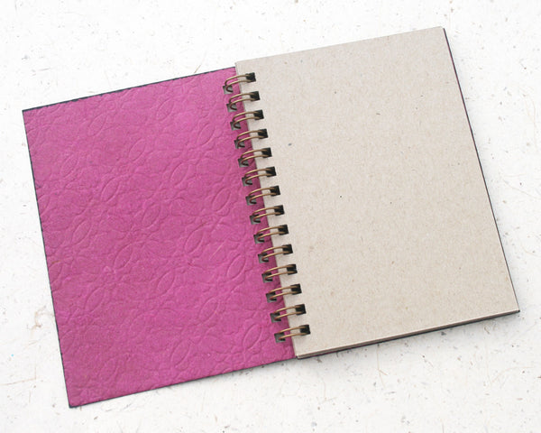 Small embossed notebook circles pink
