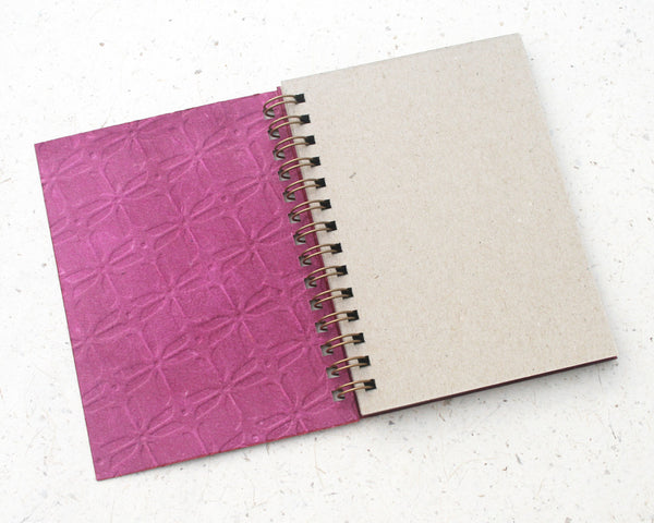 Small embossed notebook pink pinwheel