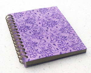 Small embossed notebook purple birds