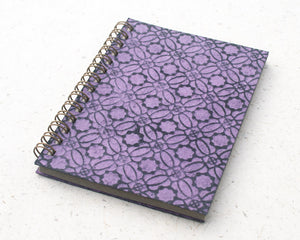 Small embossed notebook purple circles