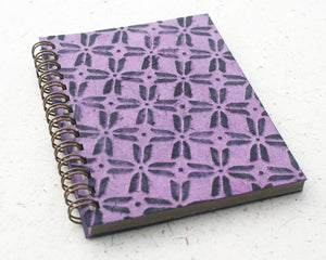 Small embossed notebook purple pinwheel