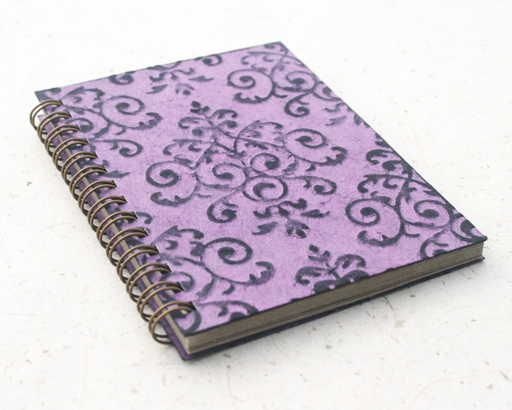 Small embossed notebook purple royale