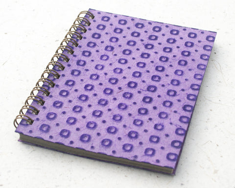 Small embossed notebook purple spotty