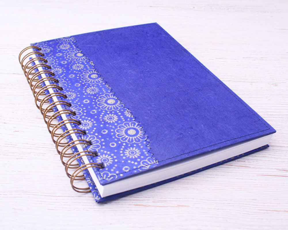 bright blue notebook