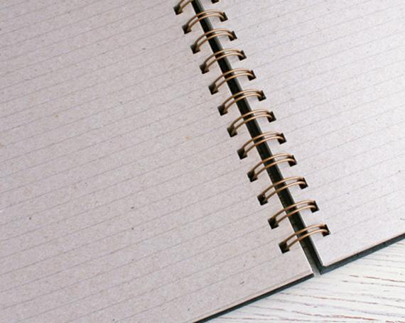 Naked Notebook A4 Lined Grey Pages
