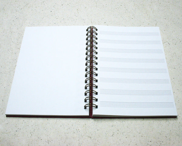 A5 Music Notebook Rose Red
