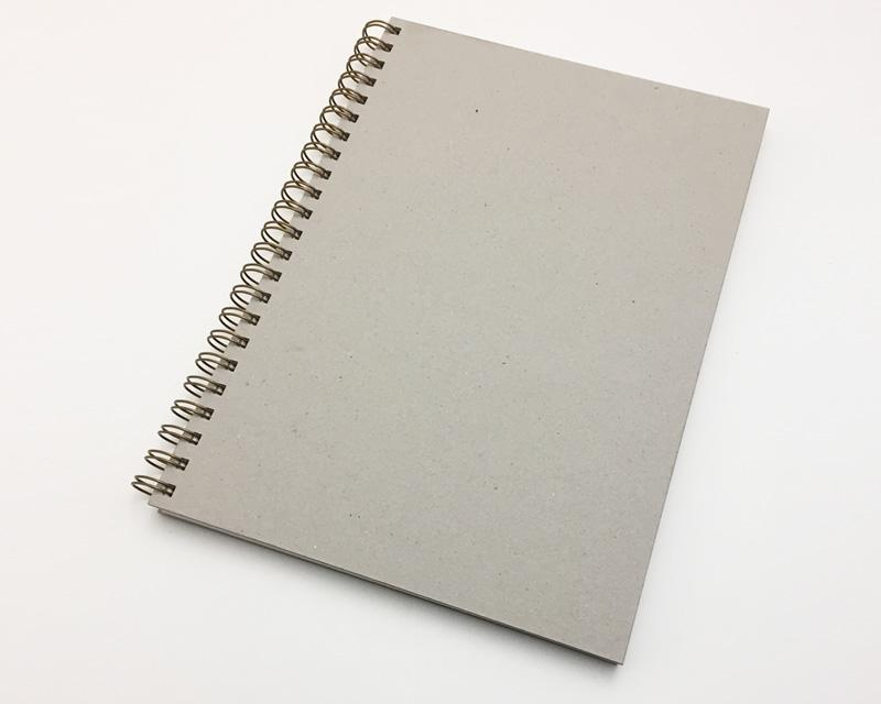Naked Notebook A4 Blank Grey Pages