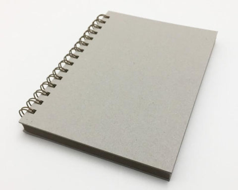 Naked Notebook A5 Blank Grey Pages