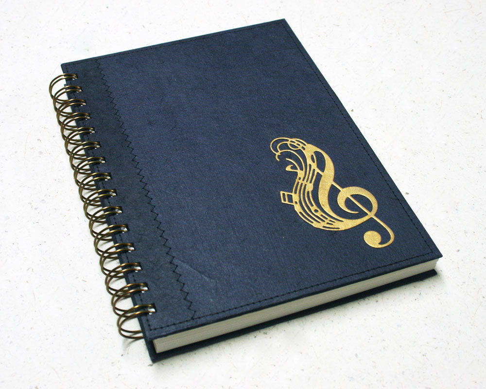 A5 Music Notebook Navy Blue