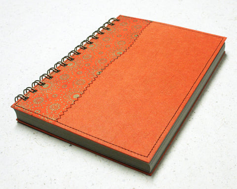 Blank Notebook Orange Daisy