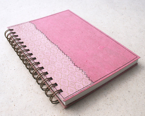 A5 Lined Notebook Pale Pink