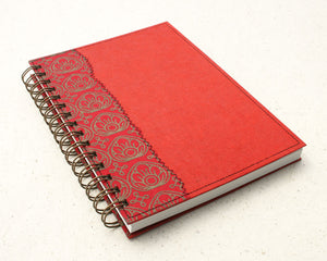 A5 Blank Notebook Red Lotus