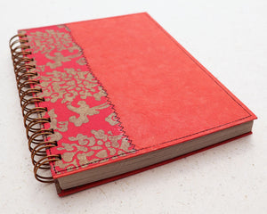 A5 Blank Notebook Red Royale
