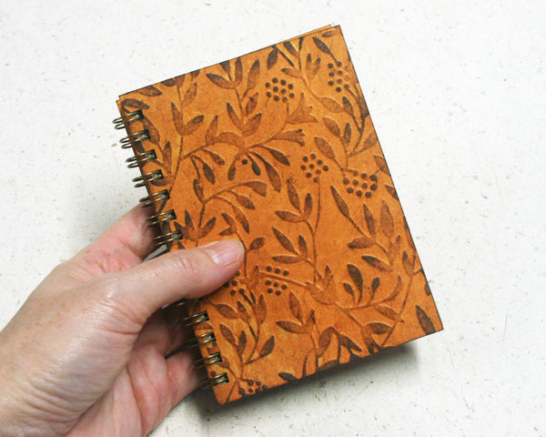 Small embossed notebook Yellow Wattle