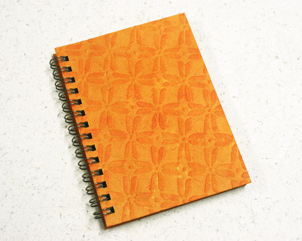 Small embossed notebook Yellow Pinwheel
