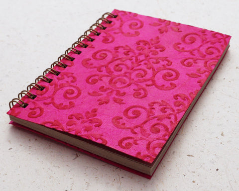 Small embossed notebook pink royale